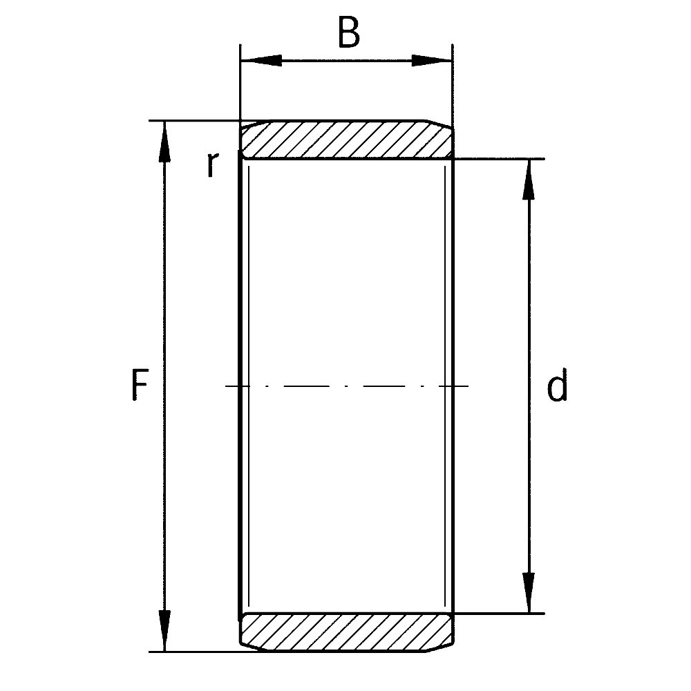 Внутреннее кольцо IR 140X160X50-XL