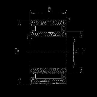 Игольчатый подшипник NKI 100/30 XL