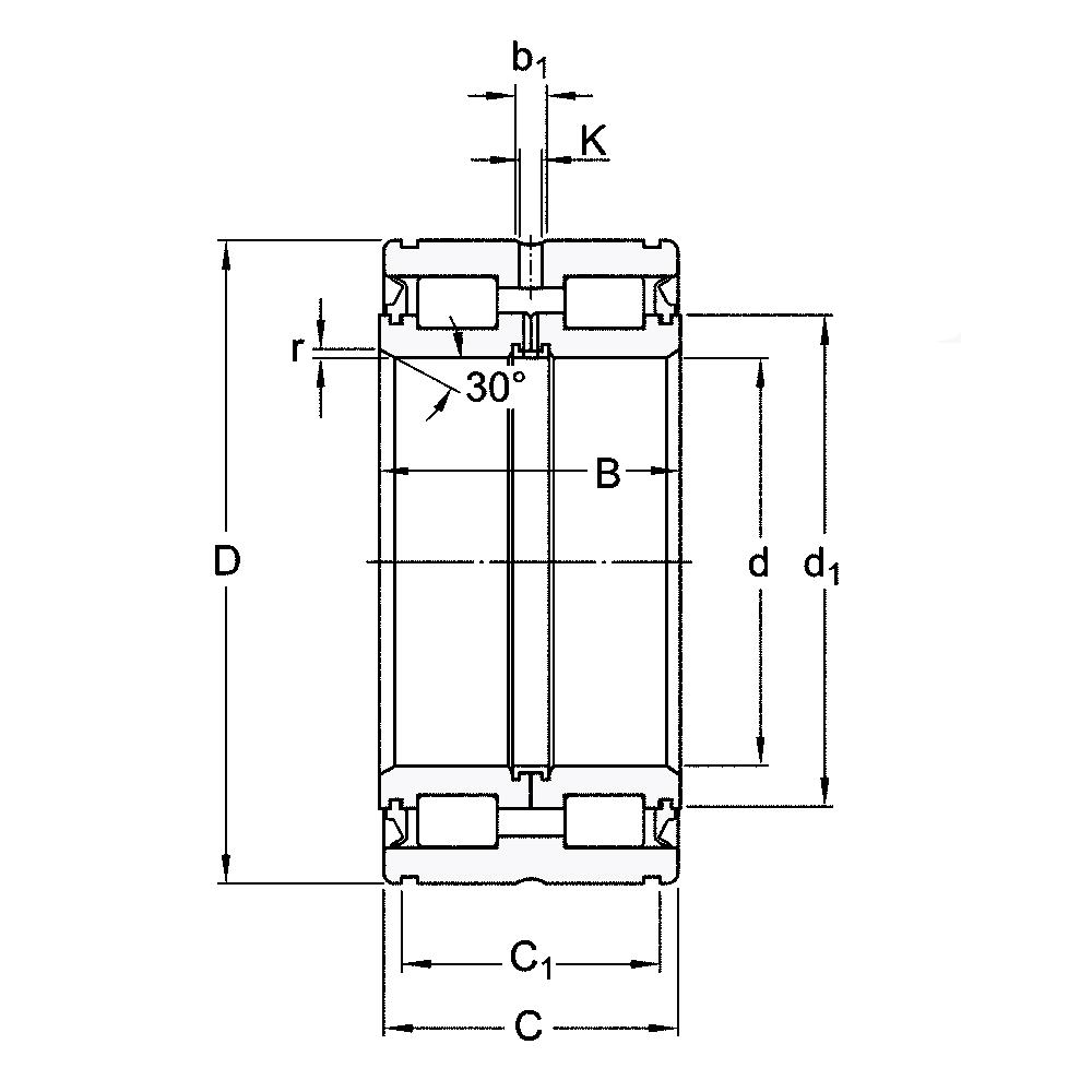 Двухрядный роликовый подшипник NNC 4924 V
