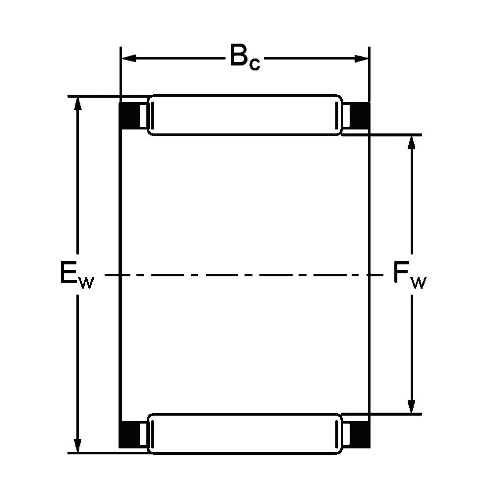 Игольчатый подшипник K 50x55x17 H