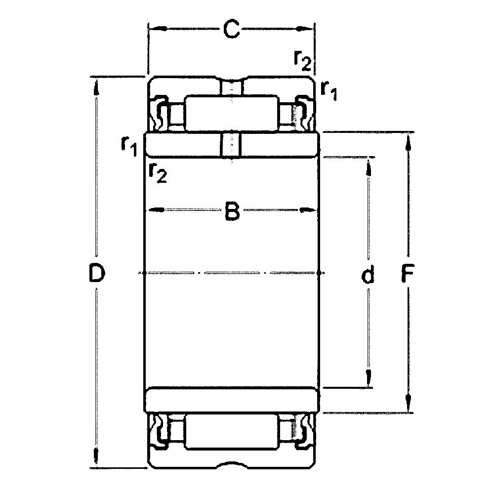 Игольчатый подшипник NA 4900 LL/3AS